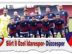 Siirt İl Özel İdarespor- Düzcespor 1-0